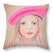 Fayanna Little French Angel Of Trust Throw Pillow