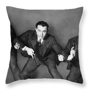 Fbi Agent, 1945 Throw Pillow