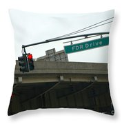 Fdr Drive Throw Pillow
