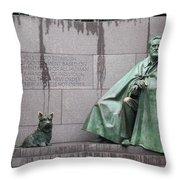 Fdr Memorial - Neither New Nor Order Throw Pillow