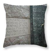 Fdr Memorial - Shared Sacrifice Throw Pillow