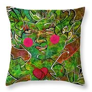 Feast In The Forest Throw Pillow