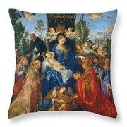 Feast Of Rose Garlands Throw Pillow