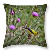 Feasting In The Flowers Throw Pillow
