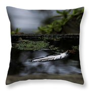 Floating On A Still Pond Throw Pillow