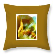 Feather Throw Pillow by Anil Nene