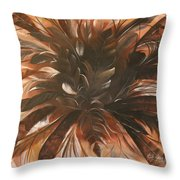 Feather Bloom Throw Pillow