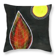 Feather In The Night Throw Pillow
