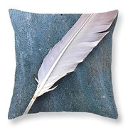 Feather Of A Dove Throw Pillow