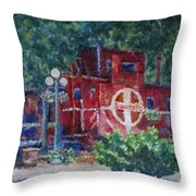 Featherbed Railroad Caboose Throw Pillow