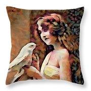 Feathered Confidant Throw Pillow