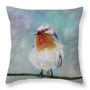 Feathered Friends First In Series Throw Pillow