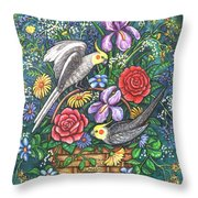 Feathered Frolic Throw Pillow