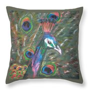 Feathered Splendor Throw Pillow