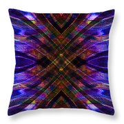 Feathered Stained Glass Throw Pillow