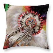 Feathers And Beads Throw Pillow