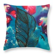 Feathers And Birds  Throw Pillow