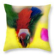 Feathers In Wine Glass Throw Pillow