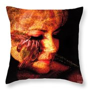 Feathers Of Beauty Throw Pillow
