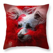 Feathers Of Red Throw Pillow