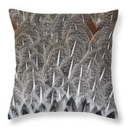 Feathers Of The Wild Hen Throw Pillow