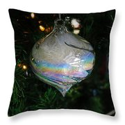Feathers Under Glass Throw Pillow