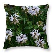 Feathery Petal Flowers Throw Pillow