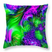 Feathery Winds Throw Pillow