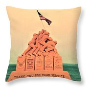 February 1945 Throw Pillow