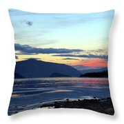 February At Dusk Throw Pillow