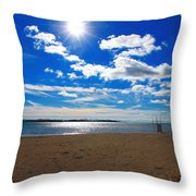 February Blue Throw Pillow