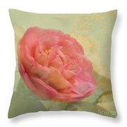 February Camellia Throw Pillow