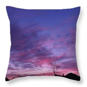 February Clouds Throw Pillow