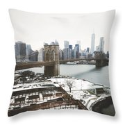 February Freeze Throw Pillow