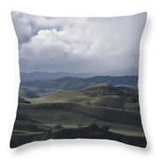 February  Rain Storm Throw Pillow
