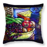February Still Life In Angelinas Kitchen 1 Throw Pillow