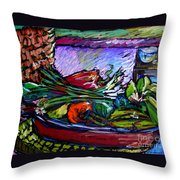 February Still Life In Angelinas Kitchen 5 Throw Pillow