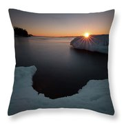 February Sunrise In Sturgeon Bay Throw Pillow