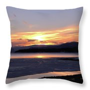 February Sunset Throw Pillow