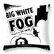 Federal Theatre Presents Big White Fog Throw Pillow