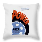 Federal Theatre Project Presents Power Wpa Throw Pillow