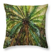 Federico Palm Throw Pillow