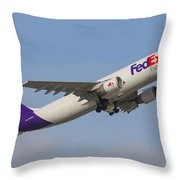 Fedex Airplane Throw Pillow
