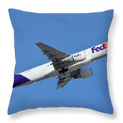 Fedex Express Boeing 757-230 N998fd Phoenix Sky Harbor January 19 2016  Throw Pillow