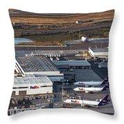 Fedex Express Fedex Ship Center At Oakland International Airport Throw Pillow