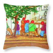 Feed And Fuel Throw Pillow