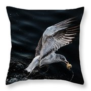 Feeding Seagull Throw Pillow