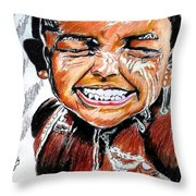 Feel On The Water Throw Pillow
