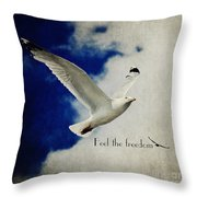 Feel The Freedom Throw Pillow