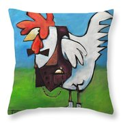 Feelin Cocky Throw Pillow